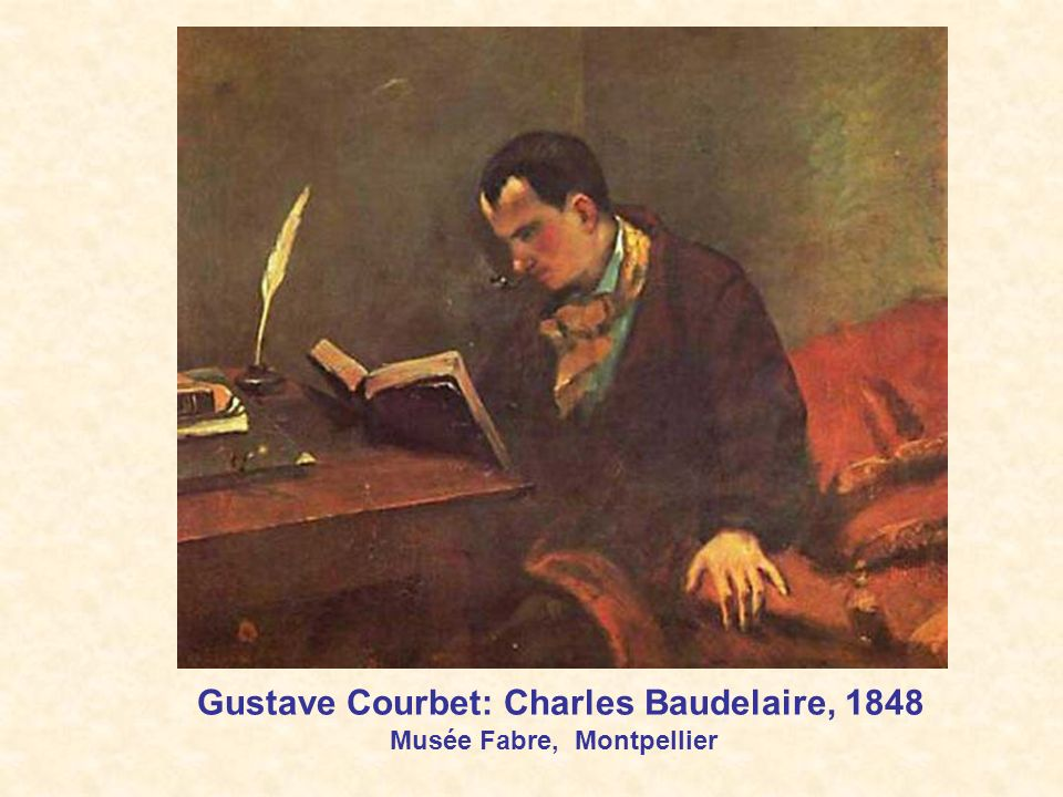 Gustave Courbet: Charles Baudelaire, 1848