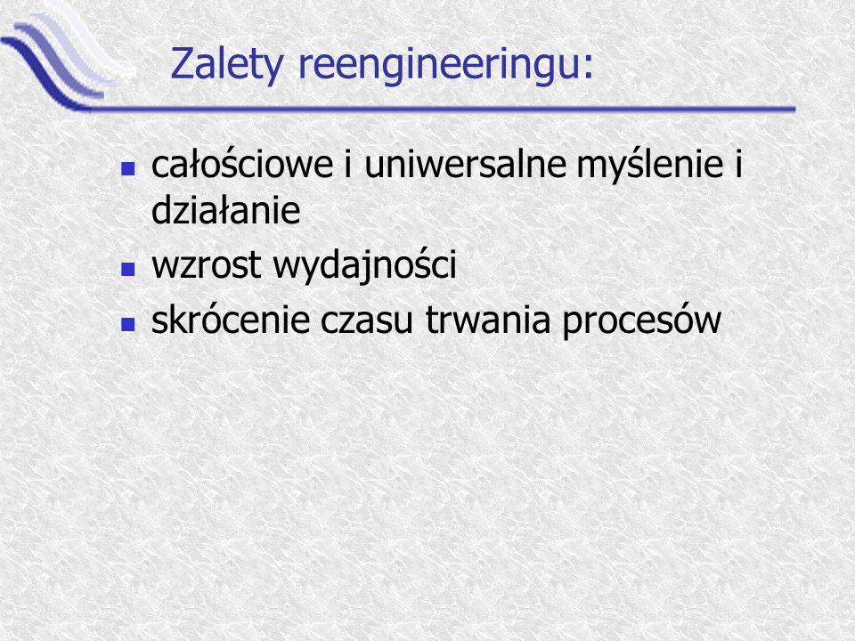 Zalety reengineeringu: