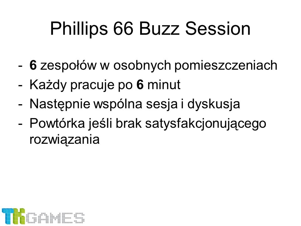 Phillips 66 Buzz Session 6 zespołów w osobnych pomieszczeniach