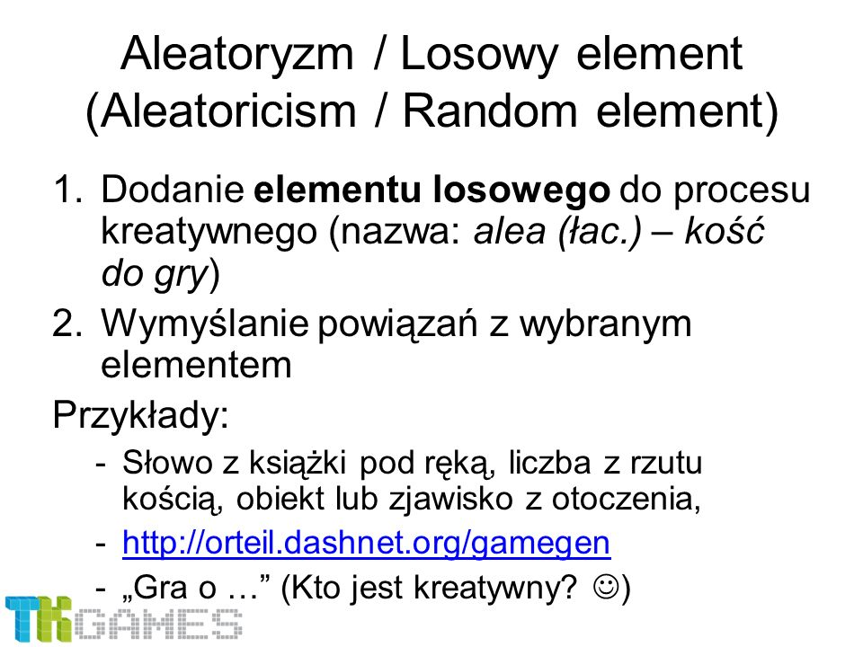 Aleatoryzm / Losowy element (Aleatoricism / Random element)
