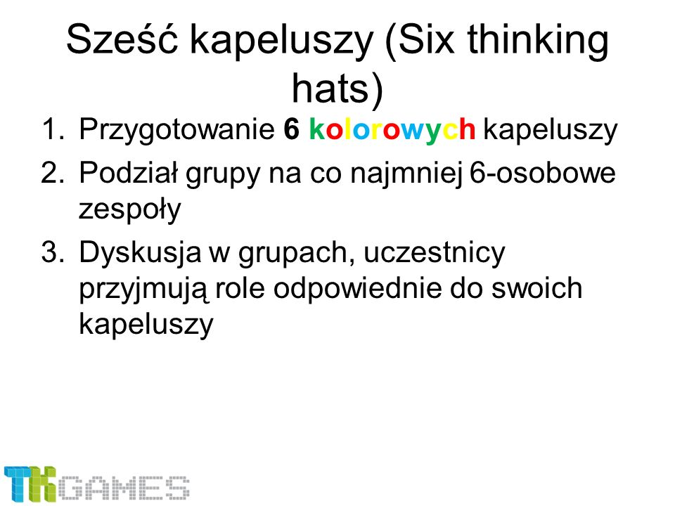 Sześć kapeluszy (Six thinking hats)
