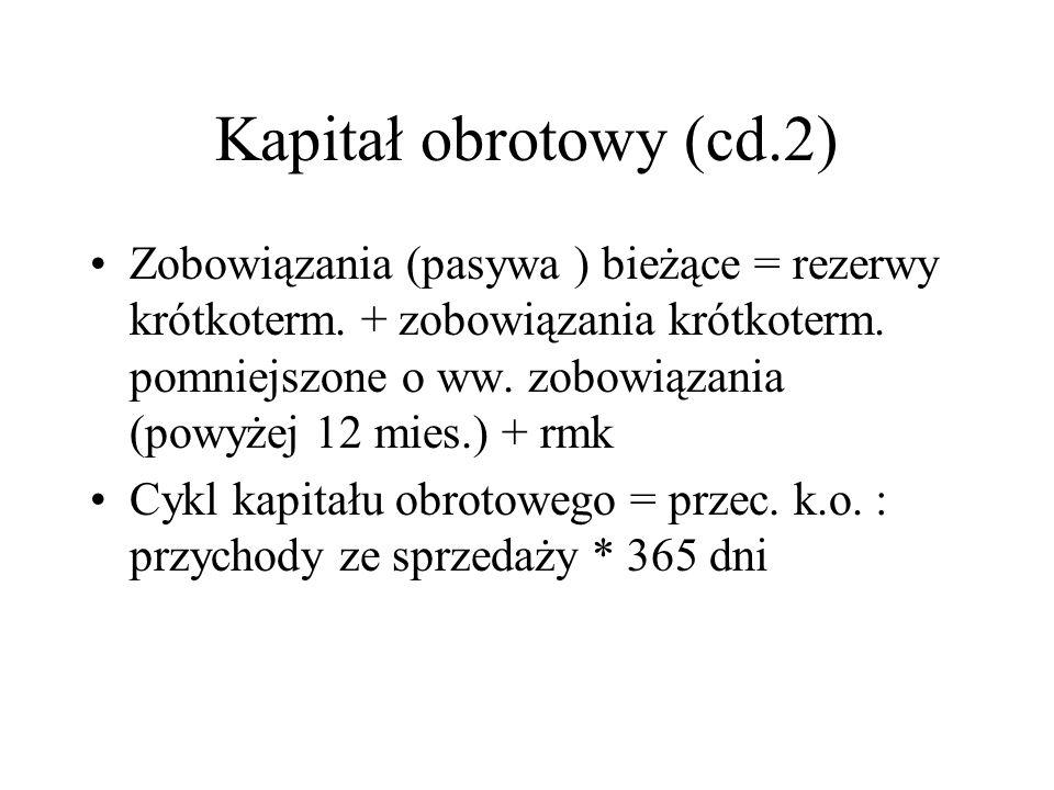 Kapitał obrotowy (cd.2)