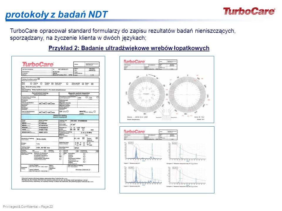 Przykład 2: Badanie ultradźwiękowe wrębów łopatkowych