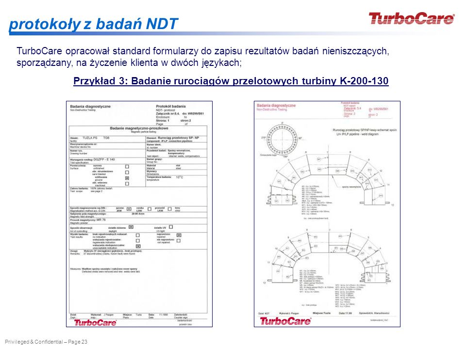 Przykład 3: Badanie rurociągów przelotowych turbiny K-200-130