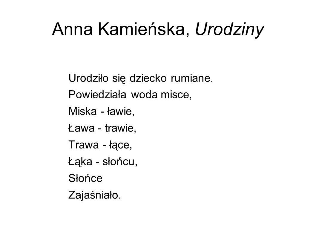 Anna Kamieńska, Urodziny