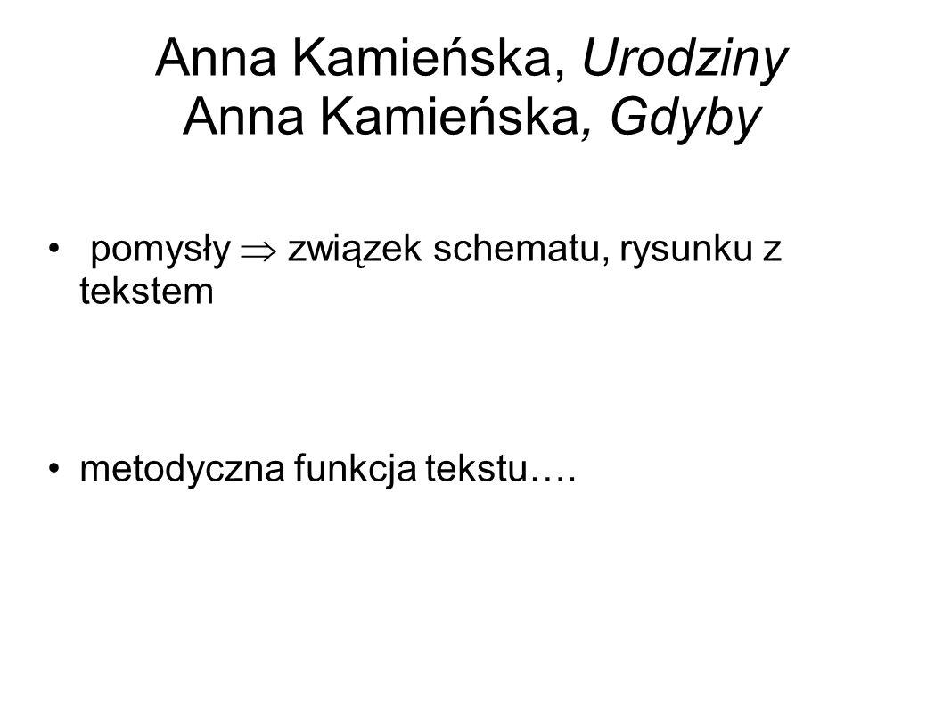 Anna Kamieńska, Urodziny Anna Kamieńska, Gdyby