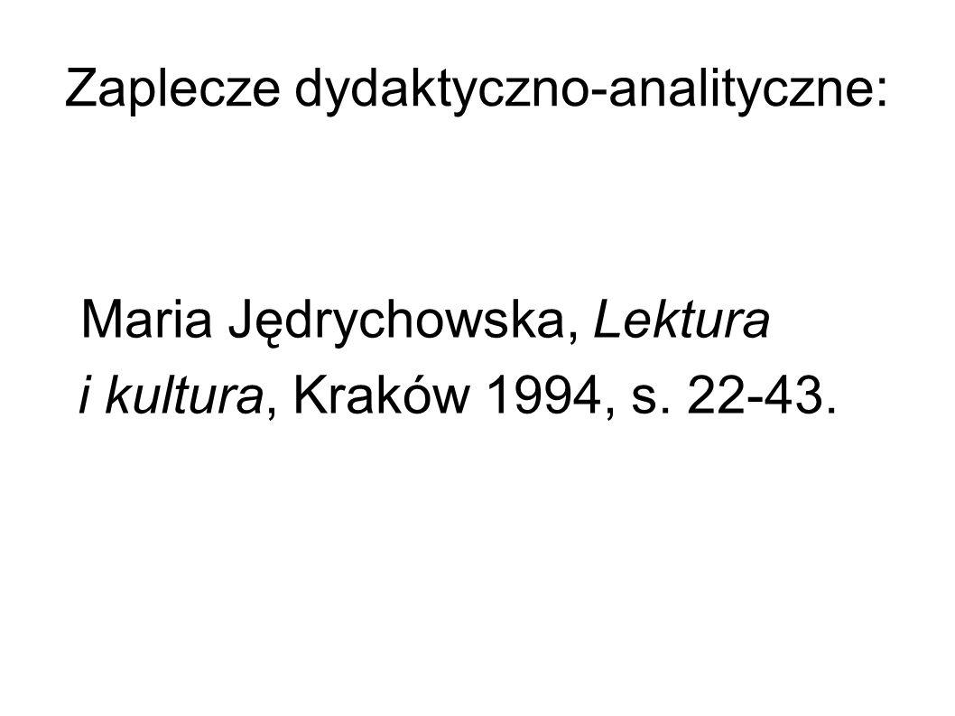 Zaplecze dydaktyczno-analityczne:
