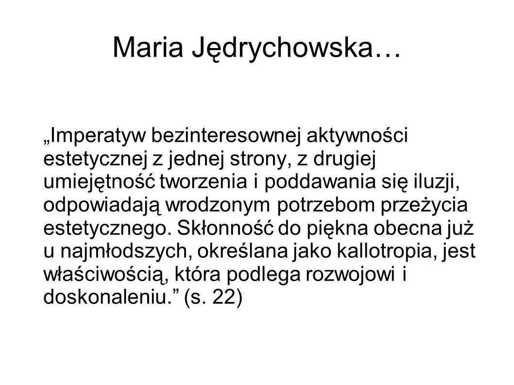 Maria Jędrychowska…