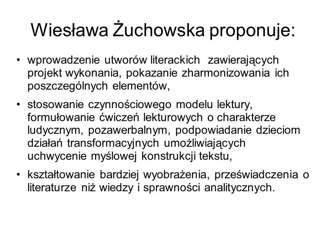 Wiesława Żuchowska proponuje: