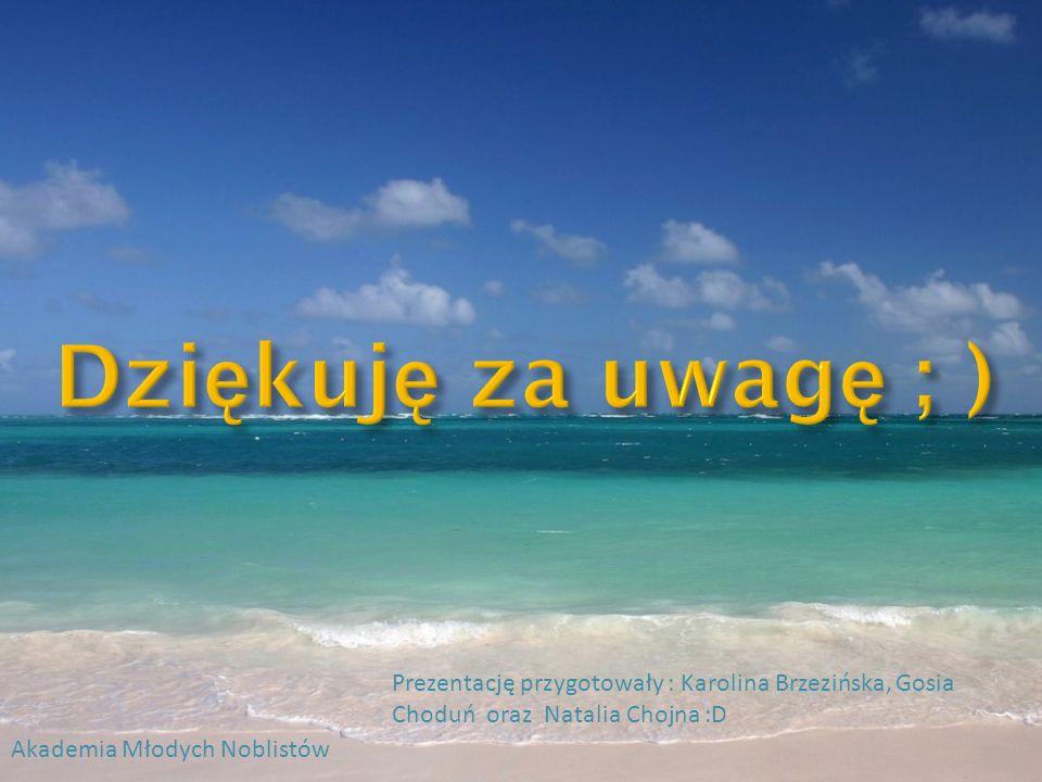 Dziękuję za uwagę ; ) Prezentację przygotowały : Karolina Brzezińska, Gosia Choduń oraz Natalia Chojna :D.