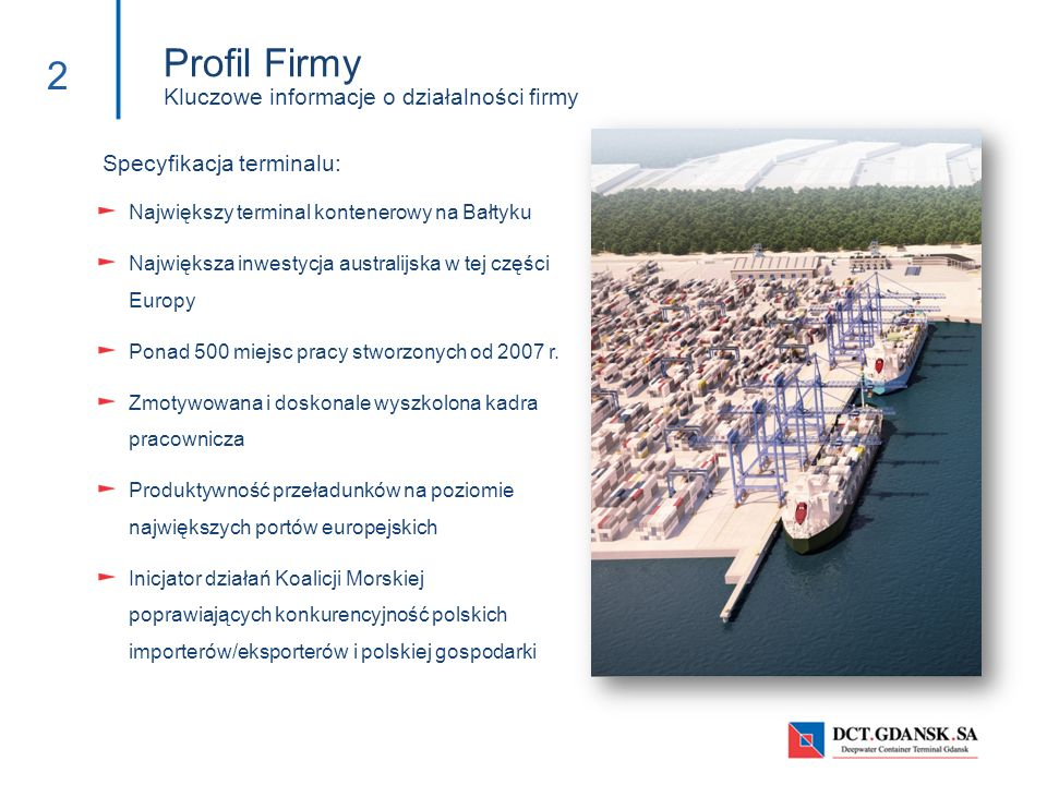 Profil Firmy Kluczowe informacje o działalności firmy