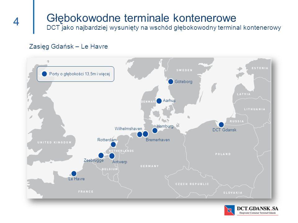 Głębokowodne terminale kontenerowe DCT jako najbardziej wysunięty na wschód głębokowodny terminal kontenerowy