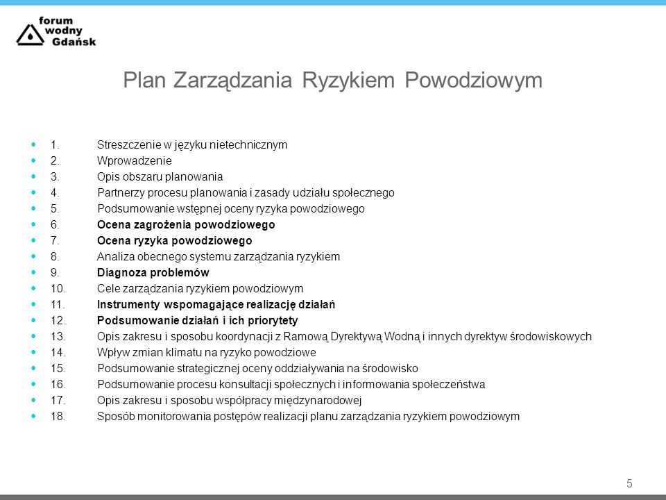 Plan Zarządzania Ryzykiem Powodziowym