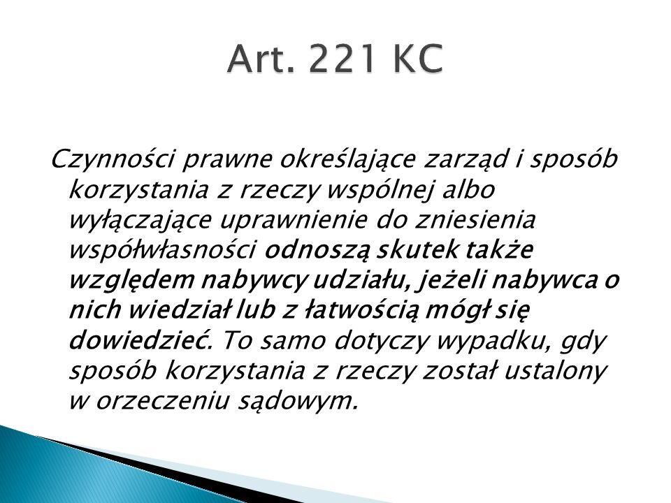 Art. 221 KC