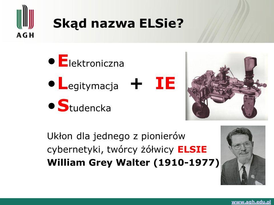 Elektroniczna Legitymacja + IE Studencka Skąd nazwa ELSie