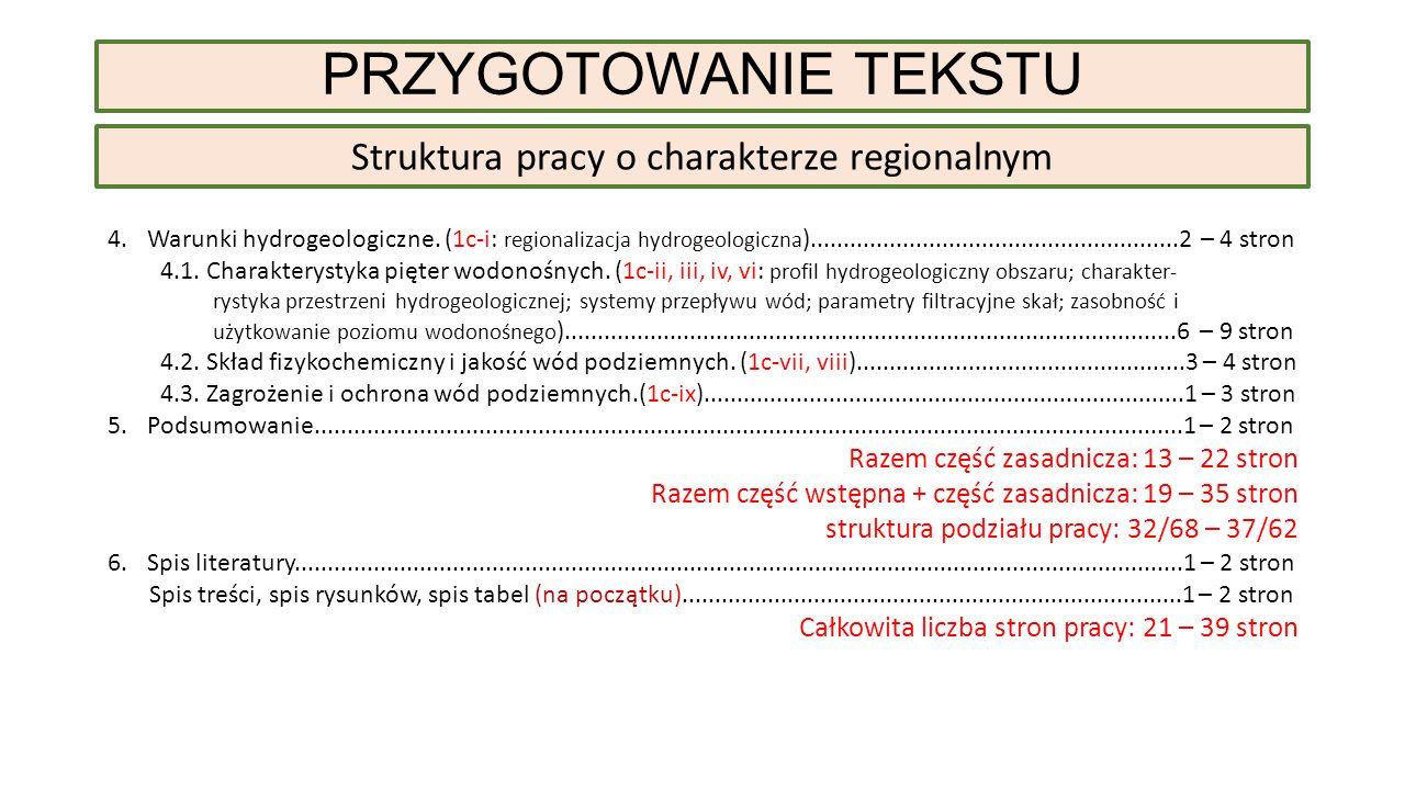 Struktura pracy o charakterze regionalnym