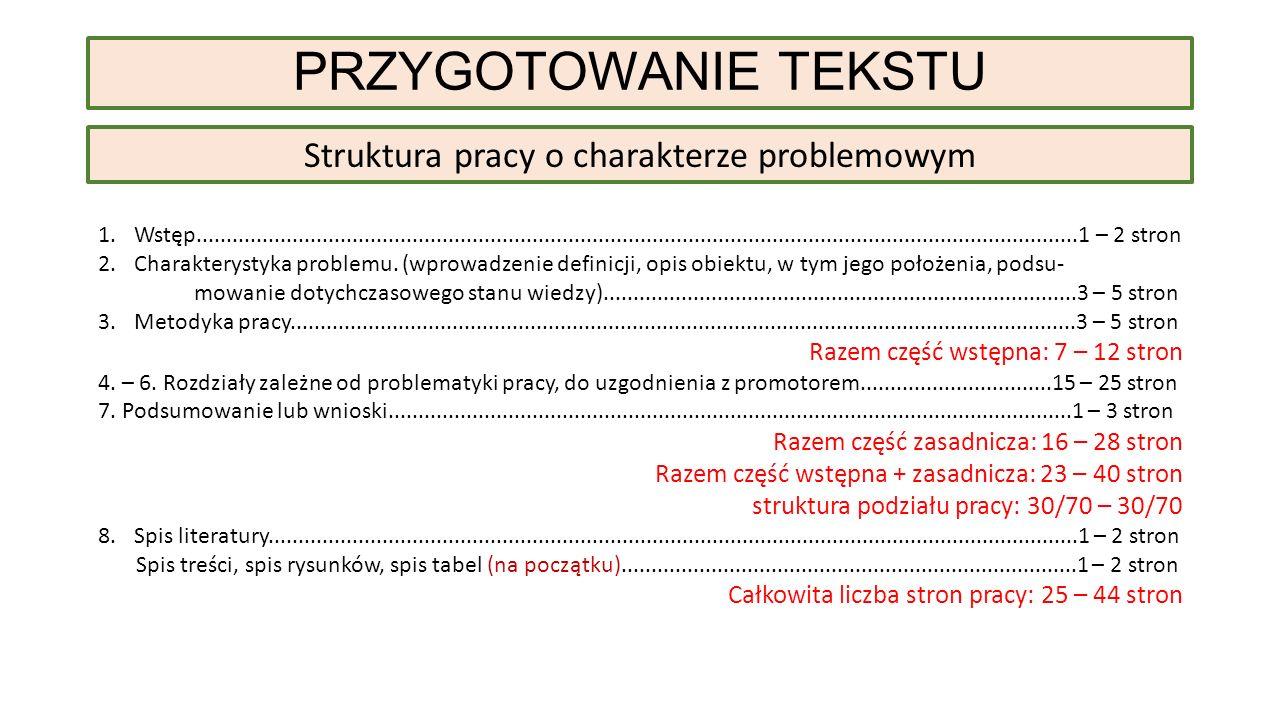 Struktura pracy o charakterze problemowym