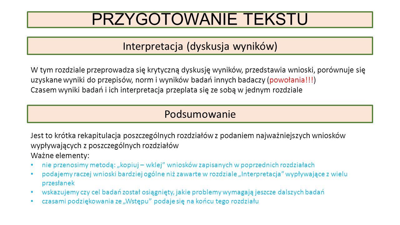 Interpretacja (dyskusja wyników)