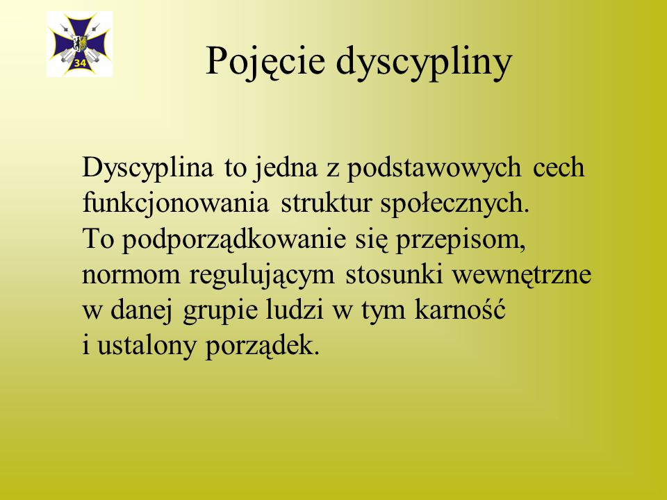 Pojęcie dyscypliny