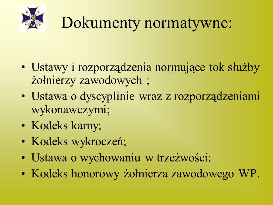 Dokumenty normatywne: