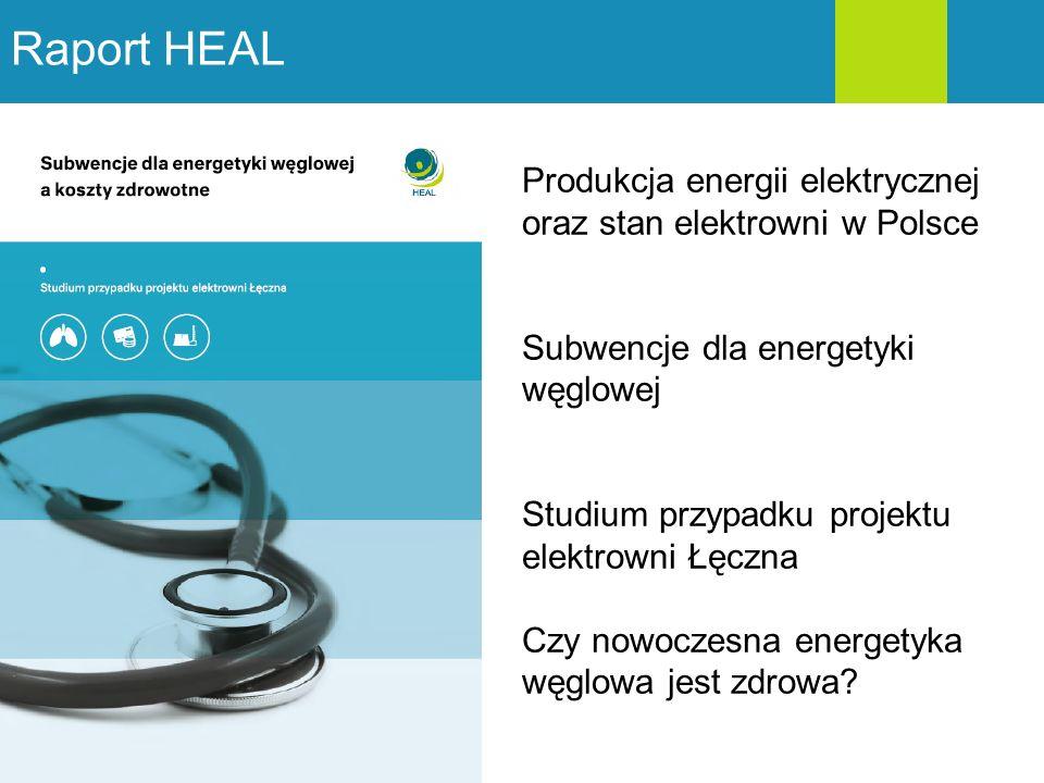 Raport HEAL Produkcja energii elektrycznej oraz stan elektrowni w Polsce. Subwencje dla energetyki węglowej.