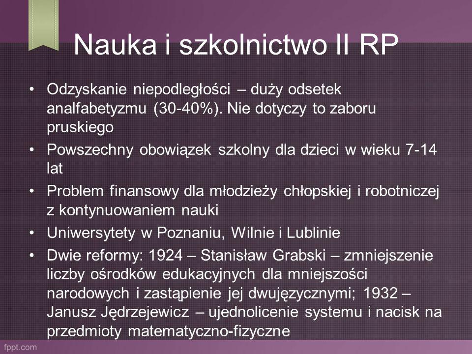 Nauka i szkolnictwo II RP