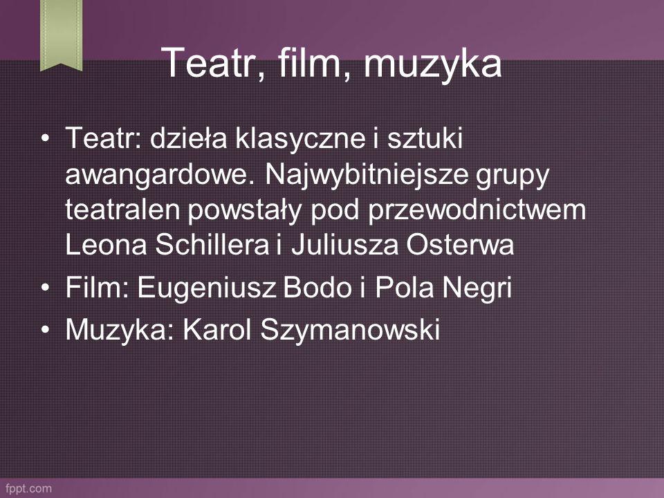 Teatr, film, muzyka