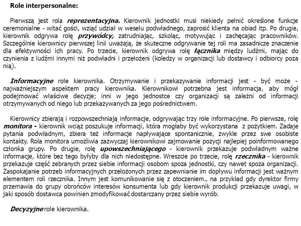 Role interpersonalne:
