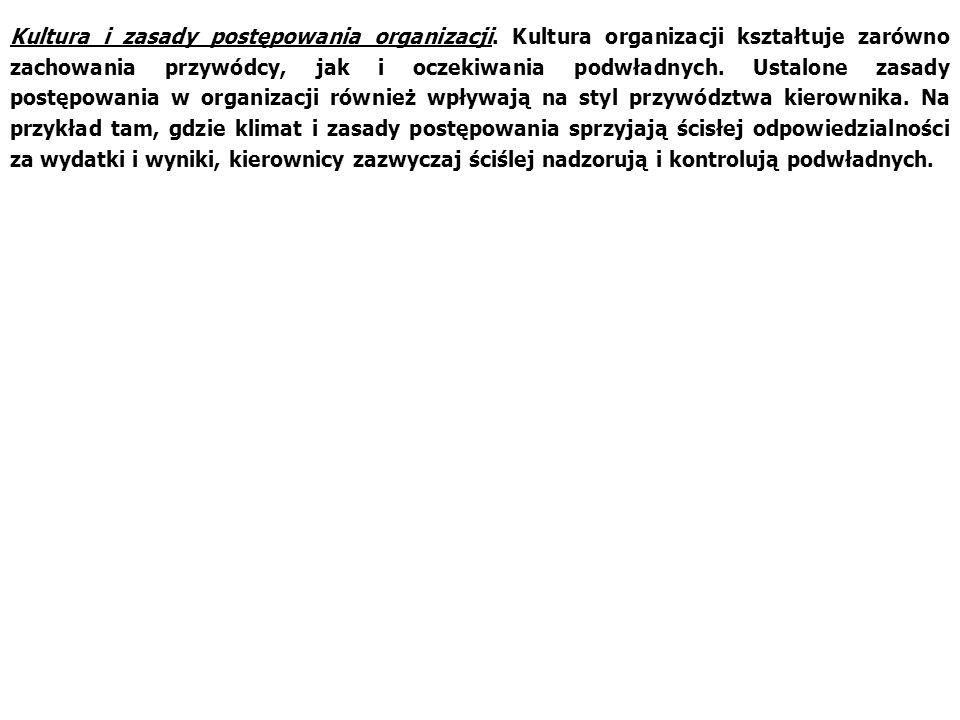 Kultura i zasady postępowania organizacji