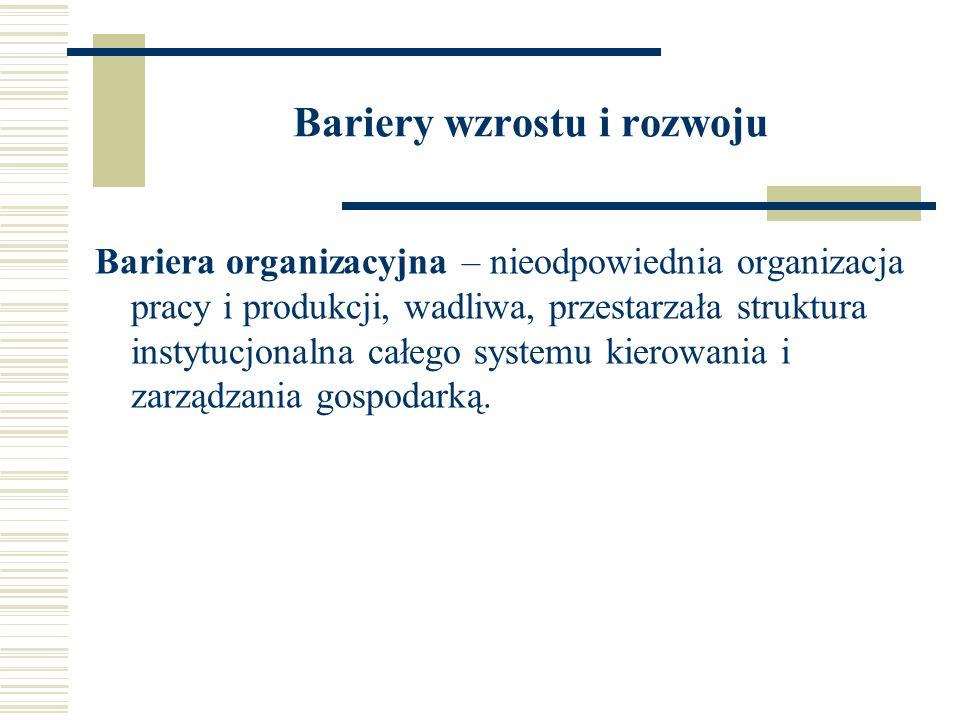 Bariery wzrostu i rozwoju