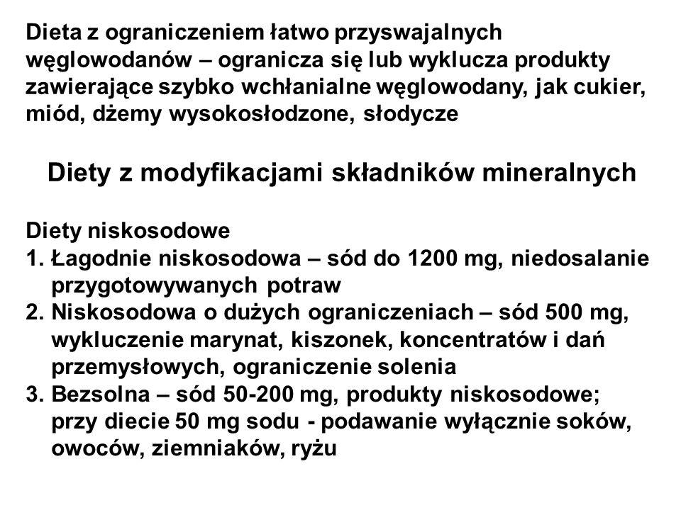 Diety z modyfikacjami składników mineralnych