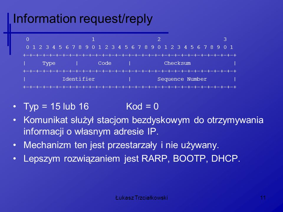 Information request/reply