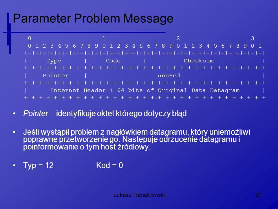 Parameter Problem Message