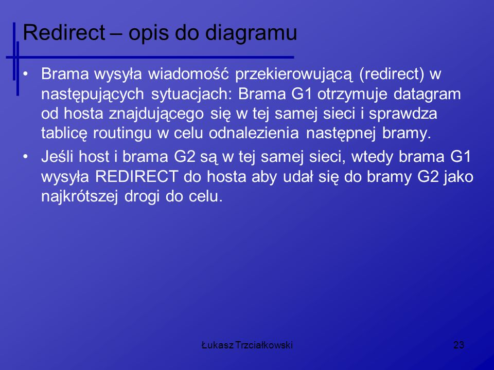Redirect – opis do diagramu