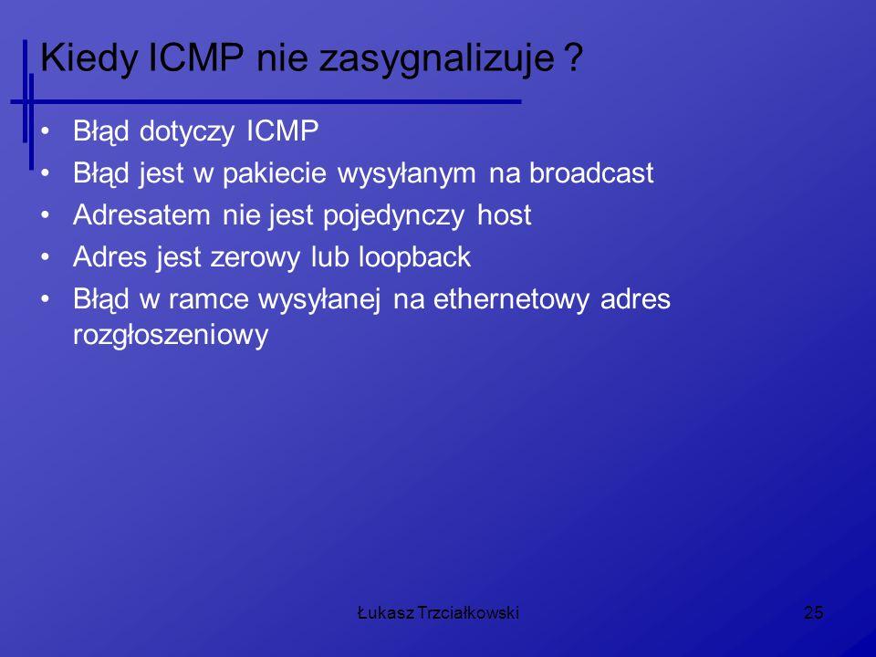Kiedy ICMP nie zasygnalizuje