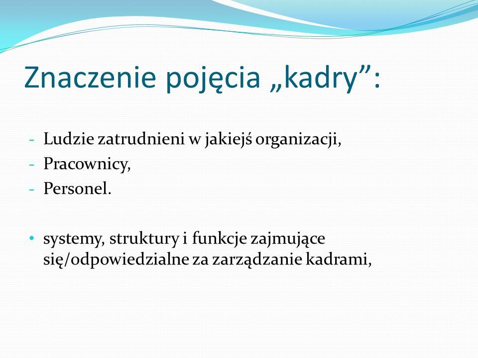 """Znaczenie pojęcia """"kadry :"""