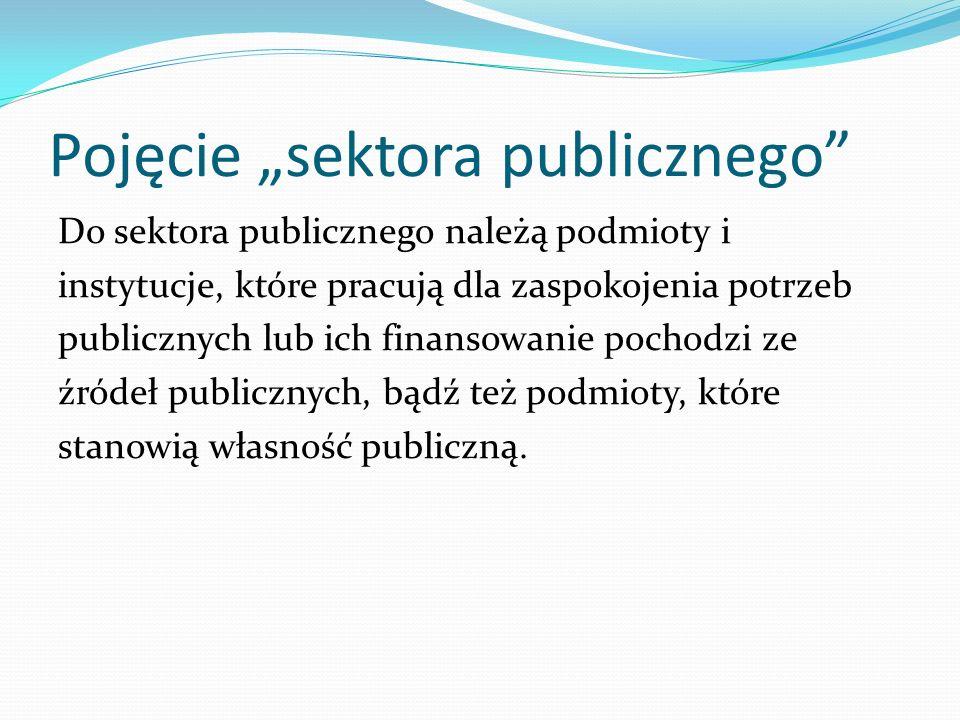 """Pojęcie """"sektora publicznego"""
