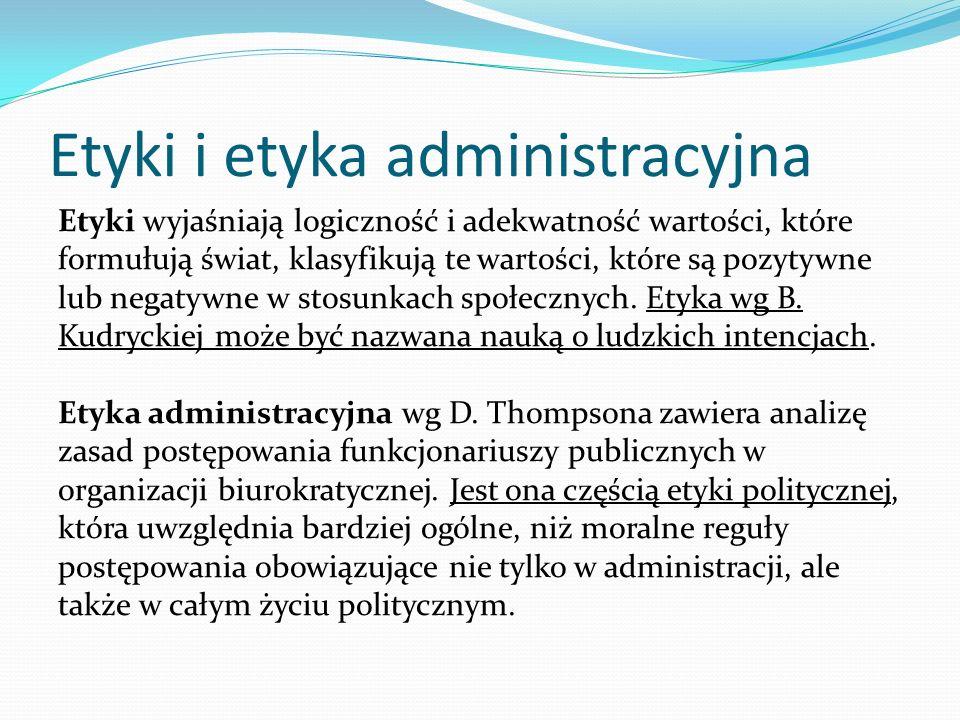 Etyki i etyka administracyjna