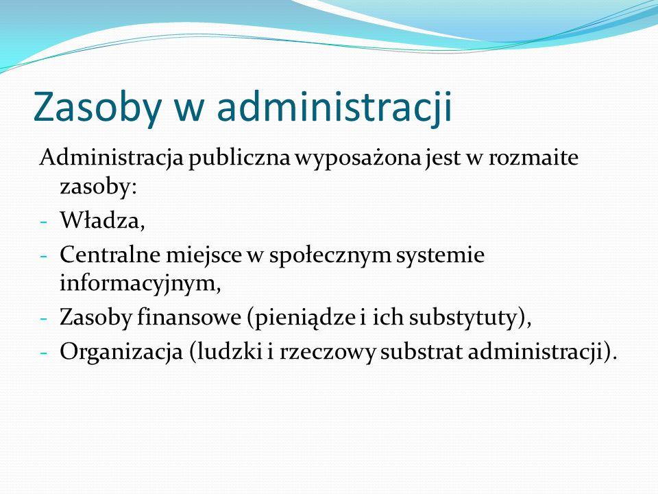 Zasoby w administracji