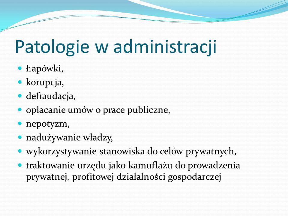 Patologie w administracji