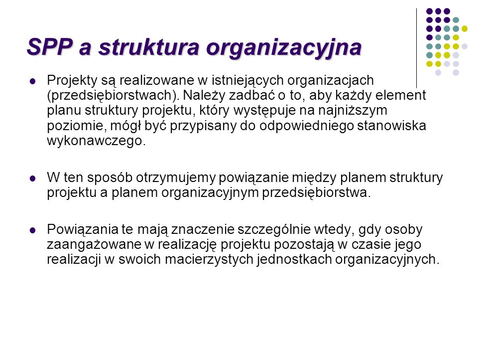 SPP a struktura organizacyjna