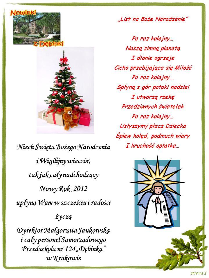 Niech Święta Bożego Narodzenia i Wigilijny wieczór,
