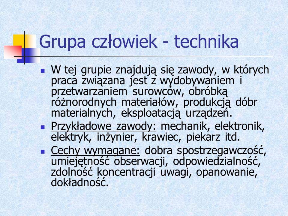 Grupa człowiek - technika