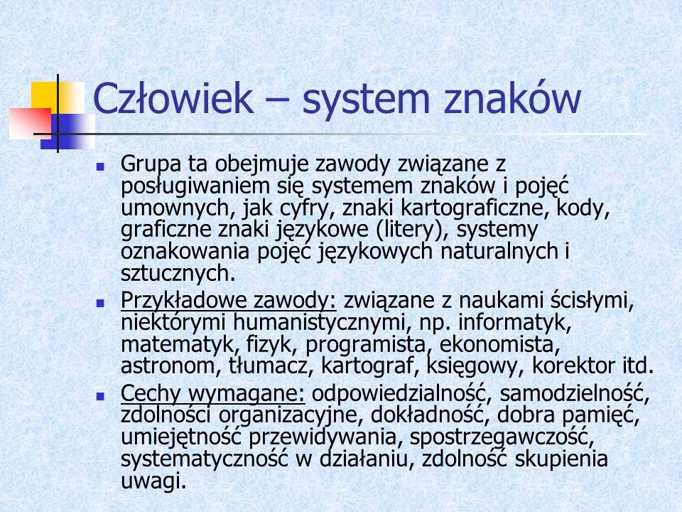 Człowiek – system znaków