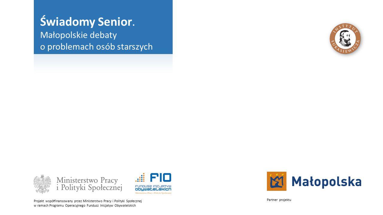 Świadomy Senior. Małopolskie debaty o problemach osób starszych