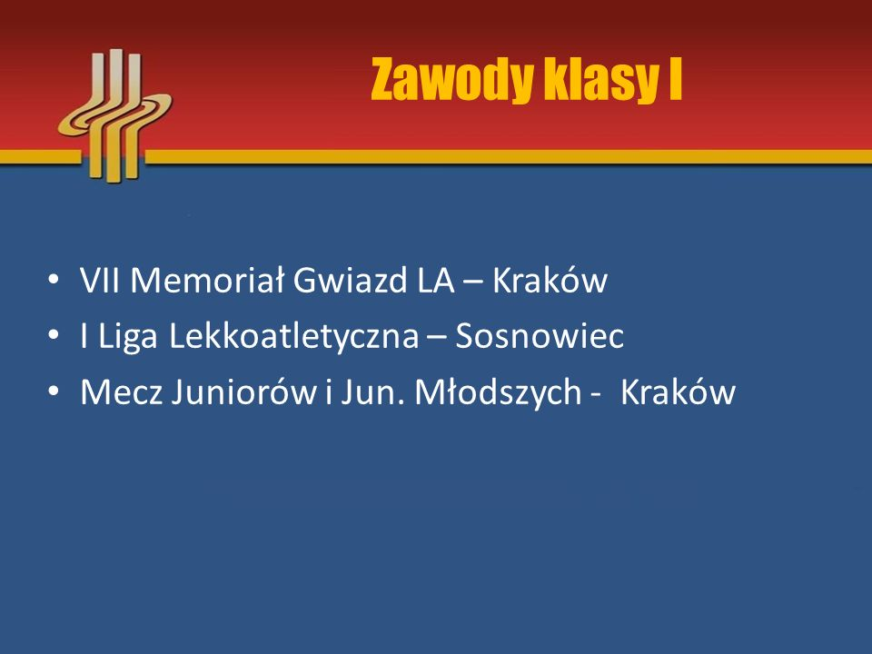Zawody klasy I VII Memoriał Gwiazd LA – Kraków