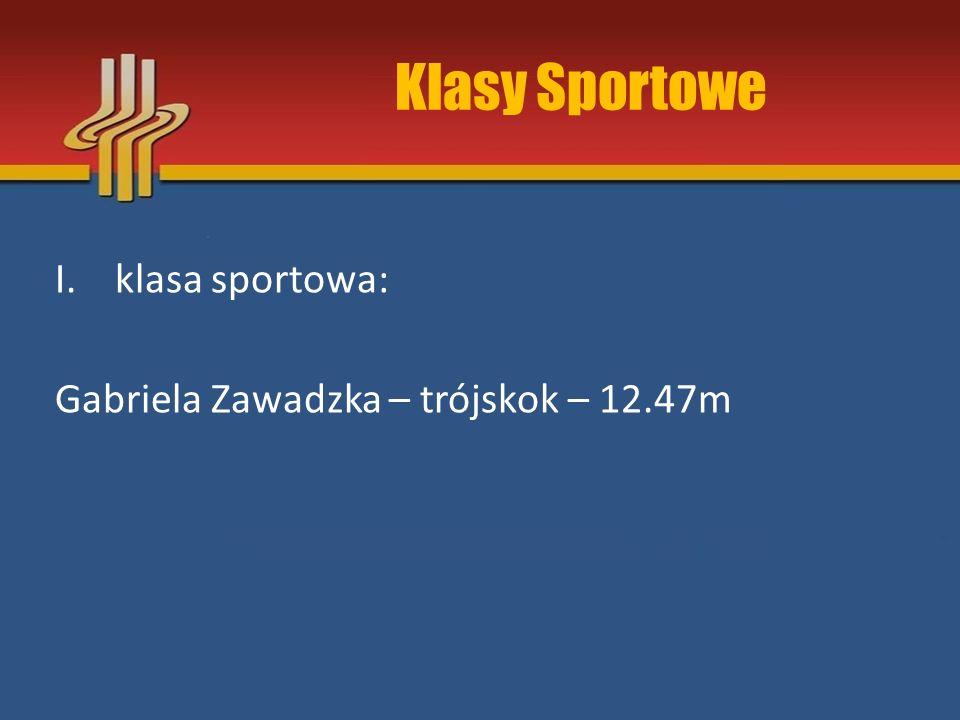 Klasy Sportowe klasa sportowa: Gabriela Zawadzka – trójskok – 12.47m