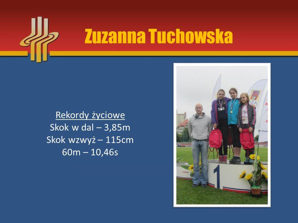 Zuzanna Tuchowska Rekordy życiowe Skok w dal – 3,85m
