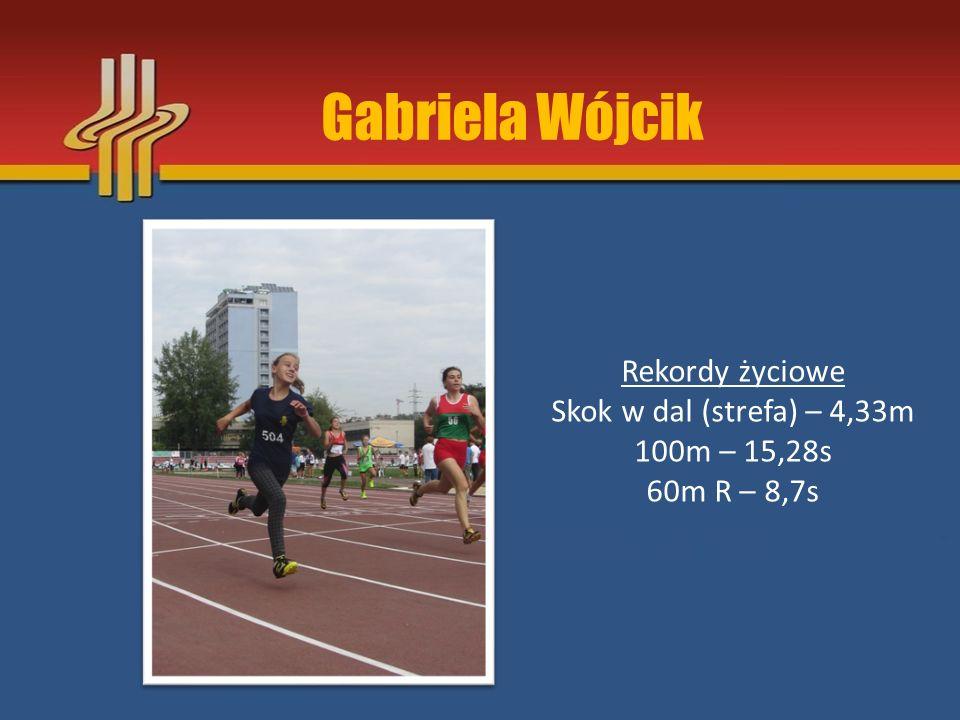 Gabriela Wójcik Rekordy życiowe Skok w dal (strefa) – 4,33m