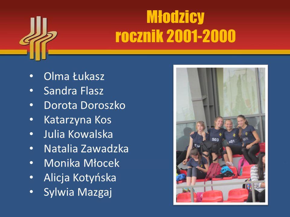 Młodzicy rocznik 2001-2000 Olma Łukasz Sandra Flasz Dorota Doroszko
